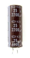 4pcs Nippon Chemi-Con KZE 2200uF 25v 105c  Radial Electrolytic Capacitor NCC