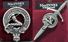 MacInnes Scottish Clan Crest Pewter Badge or Kilt Pin