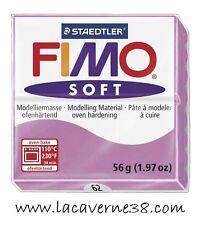 Pain de pâte polymère FIMO Soft lavande 62, pourpre 61 création bijoux perles