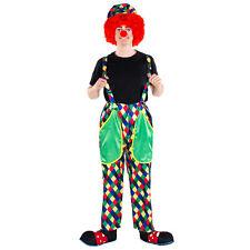 Disfraz Payaso de Circo Hombre Halloween Vestido Fantasía Adulto Carnaval