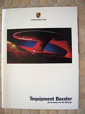 PORSCHE OFFICIAL BOXSTER & BOXSTER S ACCESSORIES BROCHURE 2002 USA EDITION