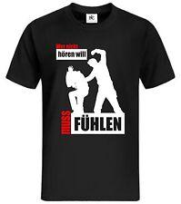 Chi non vuole sentire deve sentire T-shirt punkhooligan Fun SHIRT MMA MUAY THAI K.O