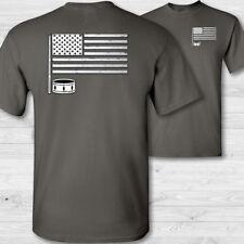 Eua Baterista Bandera Camiseta - EEUU Percusionista Tocar la Batería - Con