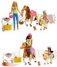 AUSWAHL: Mattel - Barbie Reitspaß mit Barbie, Chelsea, Pferd und Pony - Puppe