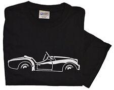 Triumph TR3A/B side view white on black 100% cotton T-Shirt