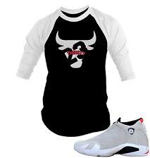 """4d6a4831ebb2 Bull Tee Shirt to Match Air Jordan 14 """"Desert Sand"""" Mens Graphic Baseball  Tee"""
