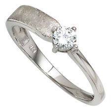 Damenring Ring aus 925 Silber Sterlingsilber mit Zirkonia klassisch Silberring