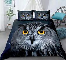 Owl Animal Nighttime Single Double King Duvet Cover Set Pillow Case Bed Set