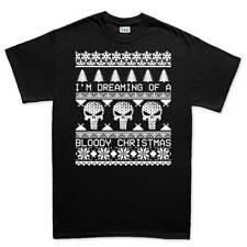 Punisher Ugly Christmas Xmas Sweater Mens T shirt Tee Top T-shirt