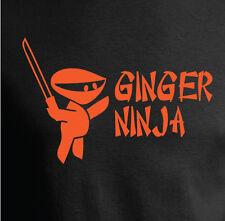 GINGER NINJA JOKE FUNNY T SHIRT - 2 COLOURS - ALL SIZES INC. BABIES AND KIDS