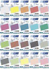 300 ADESIVI marcatura DOT ROUND Spot Cerchi Puntini Etichette di carta 12 mm -20 COLORI