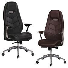FineBuy BALE chaise bureau accoudoirs cuir Fauteuildirection mécanisme synchrone