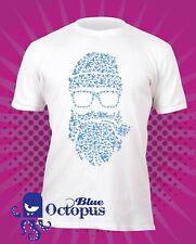 Abstract bird pipe beard t-shirt, alternative, fashion, hipster, soft print tee