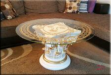 Griechischer Säulen Couchtisch Medusa Mäander Tisch Glastisch Säule Antik