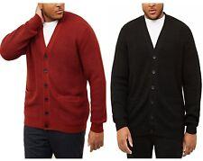 New Men's Ex New Look Tuck Stitch Knit Cardigan Button Front Jumper  Size S- 5XL