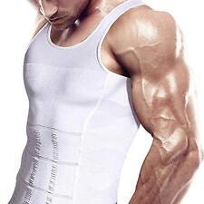 Mens Body Shaper Slimming Shirt Compression Vest Fitness Shapewear Gym Shaper UK