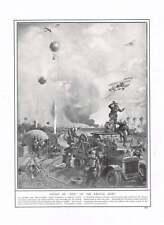 1914 War Art Balloon Attack Biplanes Barry-au-bac