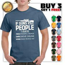 7b4dbc74 If Guns Kill People T-Shirt 2nd Amendment Gun Rights Funny 2A Mens Tee Shirt