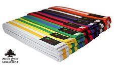 Taekwondo Gürtel zweifarbig Kampfsportgürtel gestreift alle Farben & Größen NEU!