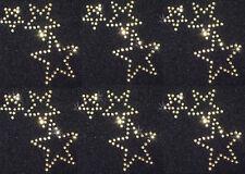 6 Triple GOLD Rhinestone star iron-on CRYSTAL TRANSFER
