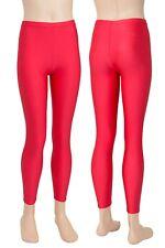Kinder Leggings Legging Mädchen und Jungen Farbe rot elastisch Gr. 104-176