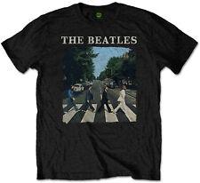 "THE Beatles ""Abbey Road & LOGO"" (IMBALLATO) T-Shirt-Nuovo e Ufficiale!"
