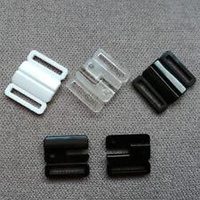 5 Stück Bikiniverschluss Verschluss Zierteil  2 cm  schwarz NEUWARE 0409a