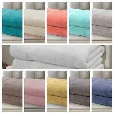 Bedding Heaven Pair of 500 gramme 100% Cotton Bath Sheets. Eleven Colours.
