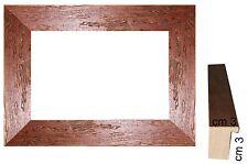 Cornice per foto in Noce rustica a cassetta spess.front.cm 3/Cornici per quadri