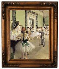 Degas The Ballet Class 1871 Wood Framed Canvas Print Repro 11x14
