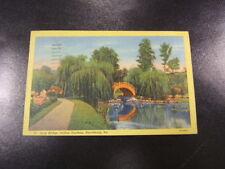 Postcard Arch Bridge Italian Gardens Harrisburg Pa Used