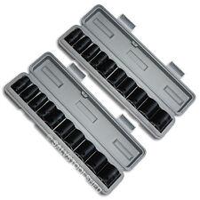 "Impact Socket Set 3/8"" Drive 10 or 20pcs Metric SAE Sockets Cases Air Tools"