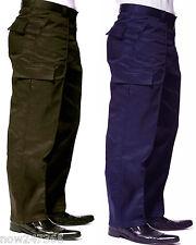 Mens Premium Cargo Work Trousers Workwear Heavy Duty