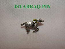 NEW ISTABRAQ UK HAND PAINTED HORSE RACING JOCKEY SILKS PIN GRAND NATIONAL