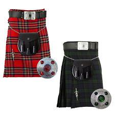 Kilt Scozzese da Uomo Tradizionale Highland Vestito Gonna/Kilt Pin Spilla/Kilt lo Sporran