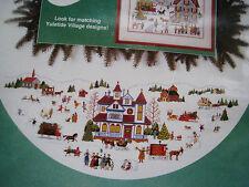 Christmas Dimensions Counted Cross Tree Skirt KITYULETIDE VILLAGEWysocki8418