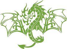 Dragon Mythology Mythical Creature Car Truck Window Laptop Vinyl Decal Sticker