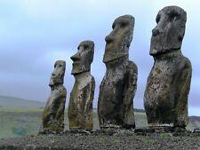 Easter Island Moahi Archaeology  HD POSTER