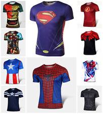 Superhero Marvel DC Comics Compression FAST SHIPPING! S M L XL