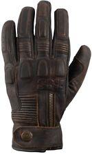 IXS Kelvin braun Vintage Retro Motorrad Handschuhe in Antik Optik gefüttert