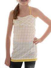 BRUNOTTI shirt NECKHOLDER haut d'été Bettes jaune à carreaux régulier nœuds