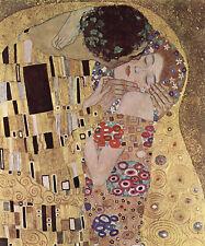 Gustav Klimt-Le baiser amoureux vintage fine art print