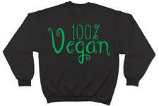 100% Vegan Vegetarian Mens Womens Ladies Unisex Jumper Sweater Sweatshirt