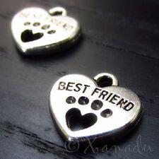 Best Friend Dog Paw, Cat Paw Wholesale Charm Pendants C3406 - 10, 20 Or 50PCs