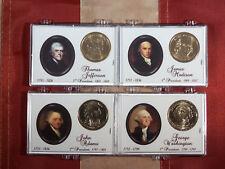 2007 P UNC PRESIDENTIAL DOLLAR SET (WASH,ADAMS,JEFF & MADISON) IN SNAP LOC CASES