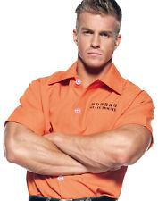 Prisoner Mens Adult Orange Inmate Halloween Costume Shirt