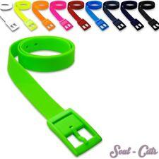 Gürtel aus Silikon in vielen Farben unisex neon gelb orange pink weiß schwarz