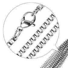 Chaîne vénitienne 2 mm 750er plaqué or 18 carats Femmes Hommes argent K2877