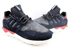 Adidas Tubular  B24693 Moccasin Runner BLACK/TOMATO/WHITE Size 10-12