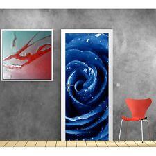 Adesivi porta Rosa blu 9525
